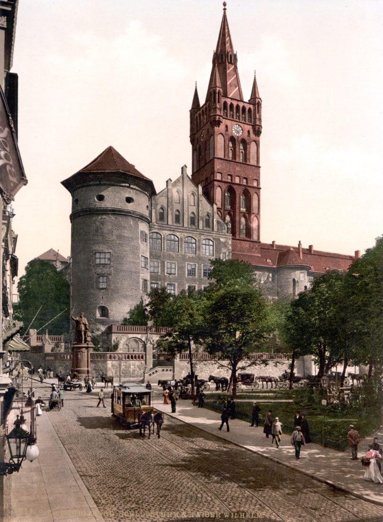 Юго-западная часть замка Кёнигсберг, изображенная на открытке