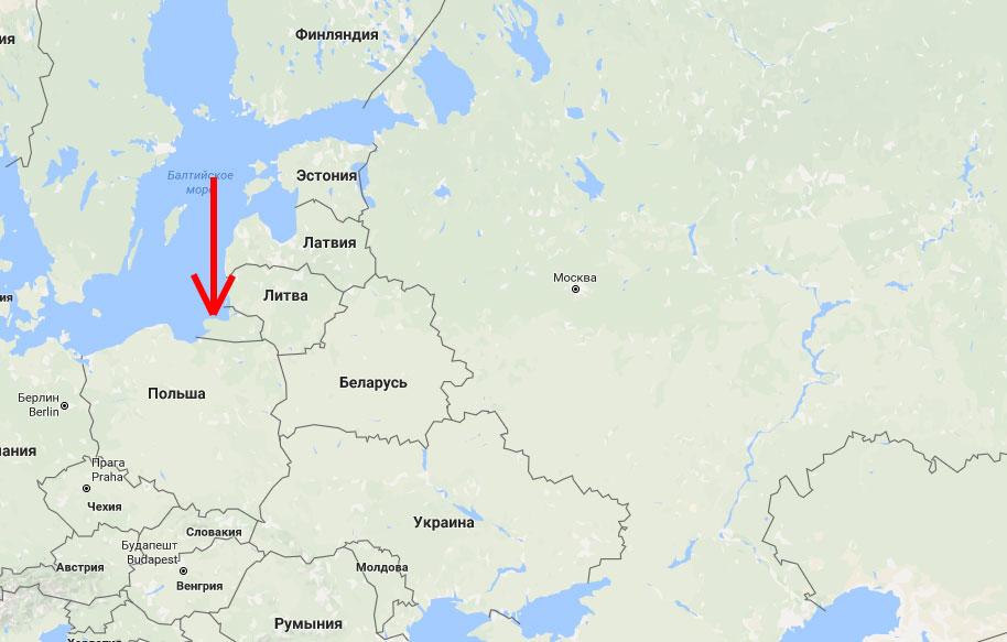 Светлогорск на карте России