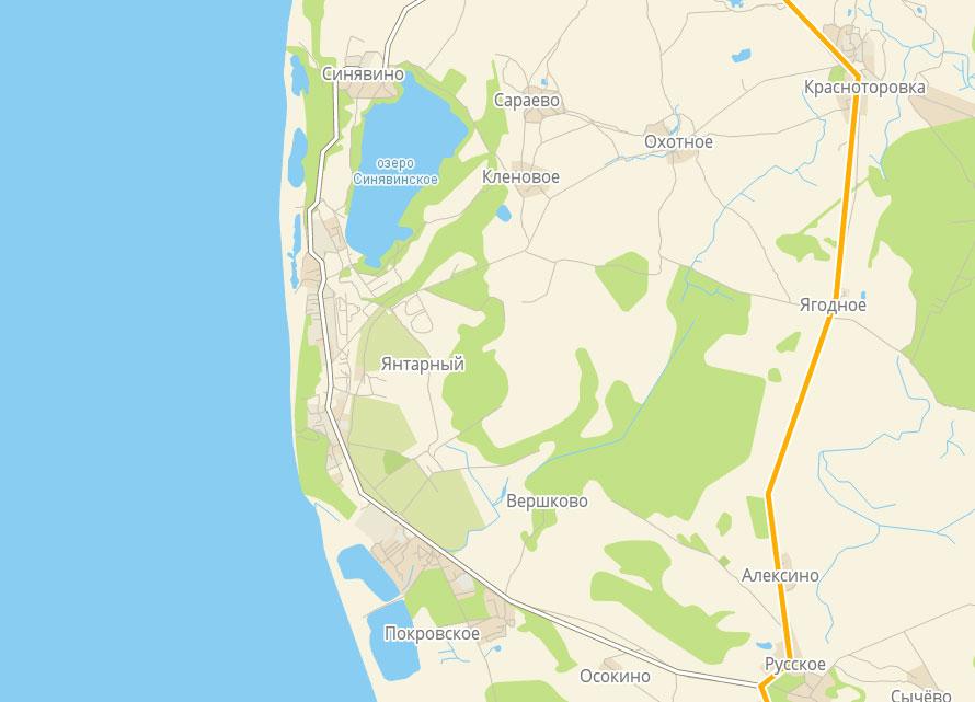 поселок Янтарный карта